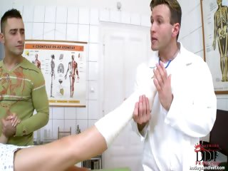 Porn Tube of Doctors Foot Fetish Exam!