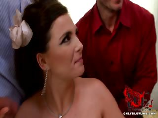Porn Tube of Bride Blows All Her Groomsmen!