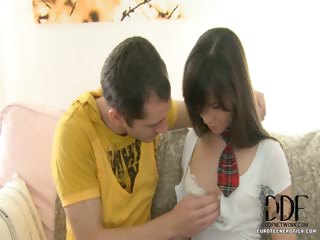 Porn Tube of Newcomer In Schoolgirl Outfit