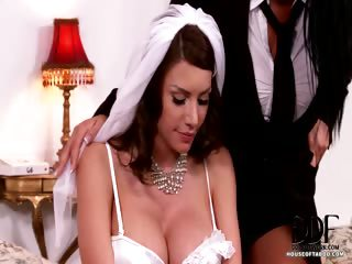 Porno Video of Lesbian Bride Bound & Teased
