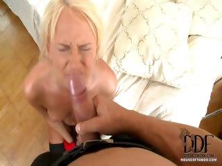 Porn Tube of Blonde Maid Ivana Fucked Hard