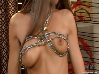 Porno Video of Bound In Chains & Pissing