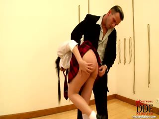 Sex Movie of Bigmouth Schoolgirl Punished!