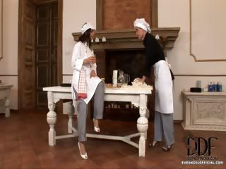 Porno Video of Hot Foot Fetish Kitchen Set