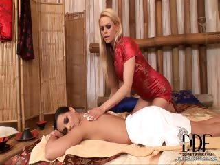Porn Tube of Hot Hungarian Lesbian Massage