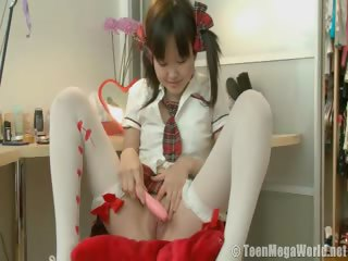 Porn Tube of Sweet Asian Teen Performing Solo