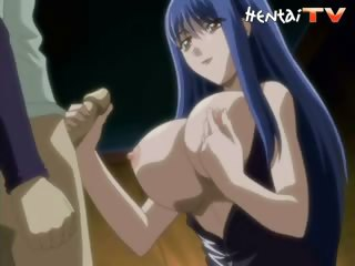 Porno Video of Blue-haired Hentai Babe