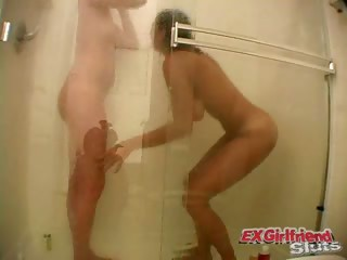 Porn Tube of Lustful Exgirlfriend Jessie Taking Shower With Friend