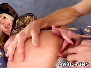 Porn Tube of Blonde Army Whore Britney Madison