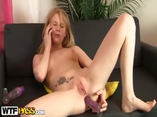 Porno Video of Nasty Chick Masturbates With 2 Dildos