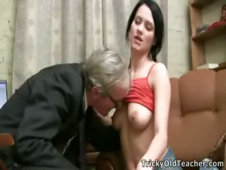 Porn Tube of Gorgeous Young Student Seduced By An Old Fart