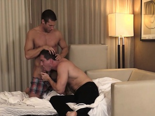 Vic and Rod have a rough bareback in the room in Las Vegas