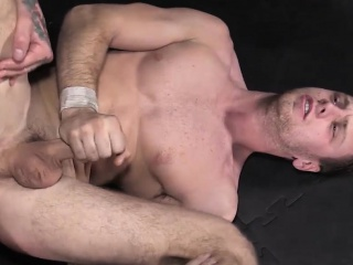hot stud jordan levine annihilates the ass of brandon evans