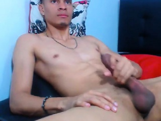 latin guy jerking off