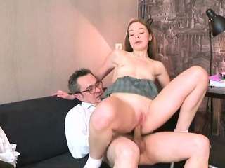 erotic college girl was tempted and plowed by her elderly in