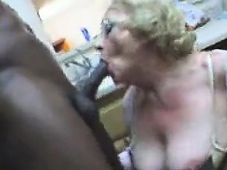 fat blonde mature slut food fetish suck black dong