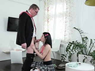 fervid college girl is teased and fucked by her senior teach