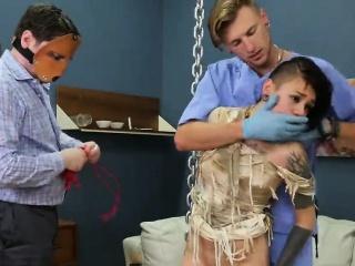 slutty cutie was taken in ass hole asylum for awkward treatm