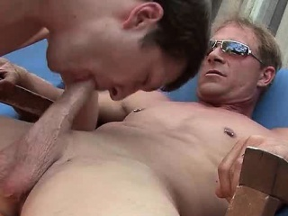 Gay gets mouth fucked and filled with sperm