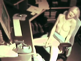 hidden cam attracts small blonde masterbating at the office