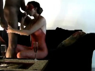 blindfolded white wifey with dismal lover - homemade interr