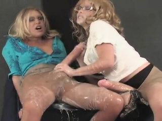 flirty teens plow the biggest belt cocks and spray jizz ever