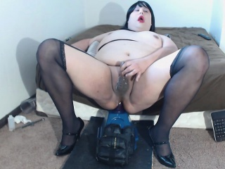 while jumping on doll linda cums large