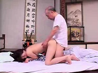 lustful oriental woman releases her sexual desires with a