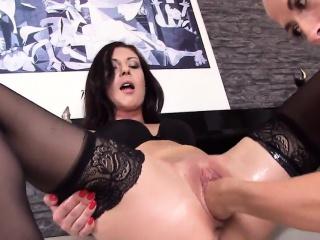 slutty czech kitten spreads her tight vagina to the strange