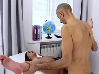 sultry college girl was seduced and penetrated by her elder