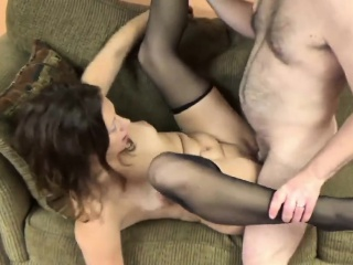 some cock is taken by adult brunette trisha pleasure from t