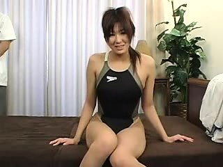 bodacious oriental beauty with sexy legs relishes an erotic