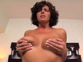 milf with nipples and large breasts get banged hard