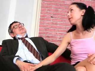 sultry schoolgirl was tempted and shagged by her older instr