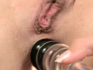 sensual kitten is gaping juicy pussy in close up and having