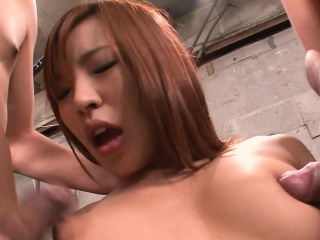 cute oriental gives oral job after experiencing wild toying