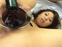 Chihiro Misaki gets sex toys in asshole and cock in hairy