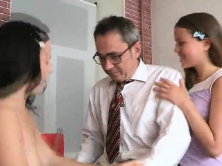 lovable college girl gets seduced and fucked by her older te