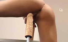 Hot tight babe riding toy