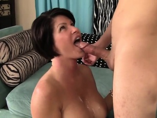 busty milf shay fox uses her mouth and cunt to please a