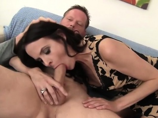 thin milf natasha kee sucks a guy's dick and then takes it