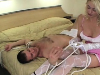robust hotty shows a lad what female domination means