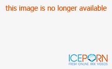 Stockinged busty lesbo cougars sharing double dildo