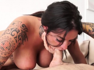 Brunette Beauty With Tattoos Raquel Adan Hits Hard And Fast