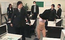 Hot asian office babe sexually tortured at work