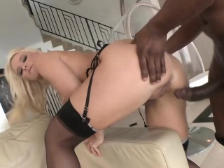 Sensational Blonde Gets Big Black Dick