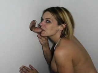 Blonde With Big Tits Sucked A Penis Through The Hole Of Glory
