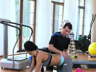 fitness beauty gags coachs hard cock