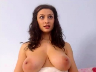 horny milf with massive natural tits on webcam