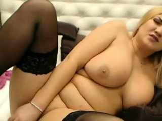 Wild Blonde With Huge Tits Sucks And Fucks A Toy